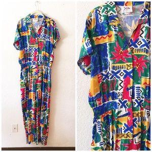 Vintage 90s Jumpsuit Sleeveless Summer Playsuit